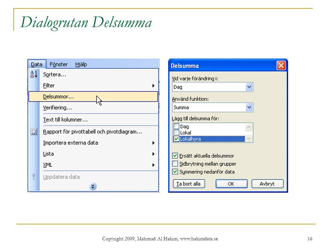 Copyright 2009, Mahmud Al Hakim, www.hakimdata.se