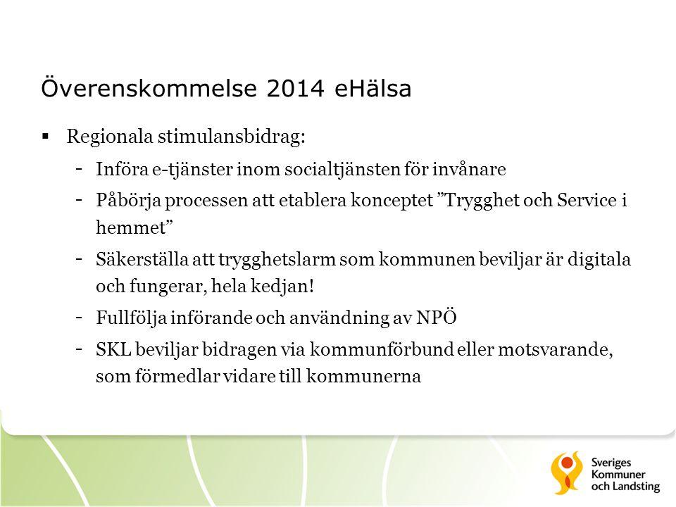 Överenskommelse 2014 eHälsa