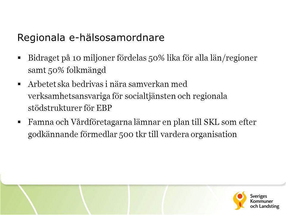 Regionala e-hälsosamordnare