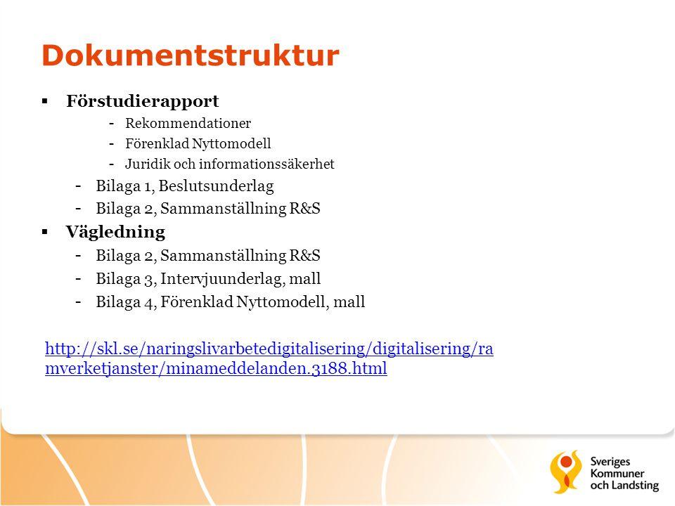 Dokumentstruktur Förstudierapport Vägledning