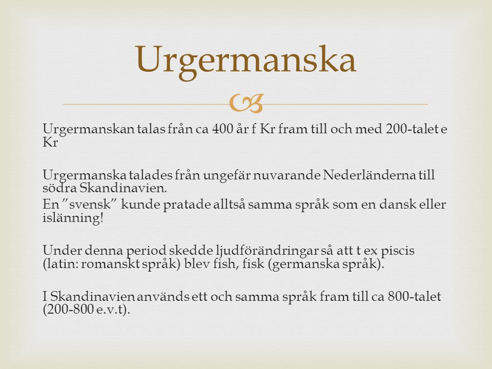 Urgermanska