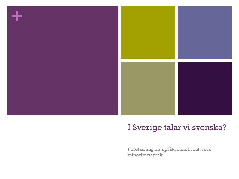 I Sverige talar vi svenska