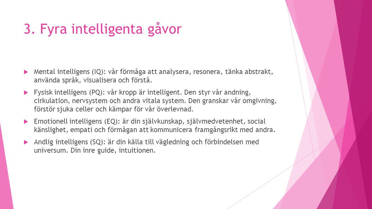 3. Fyra intelligenta gåvor