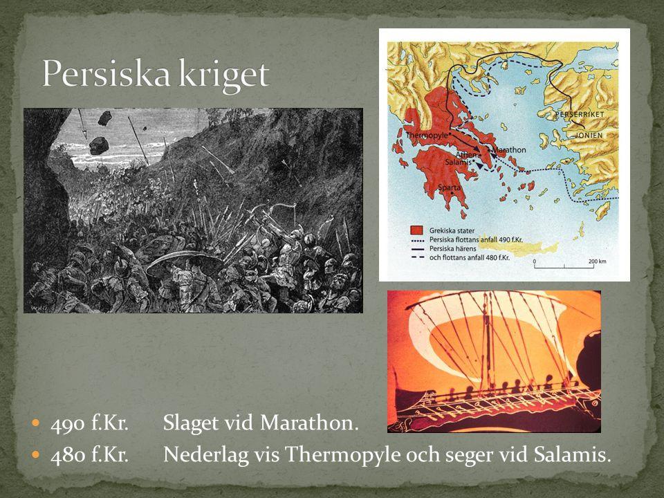 Persiska kriget 490 f.Kr. Slaget vid Marathon.