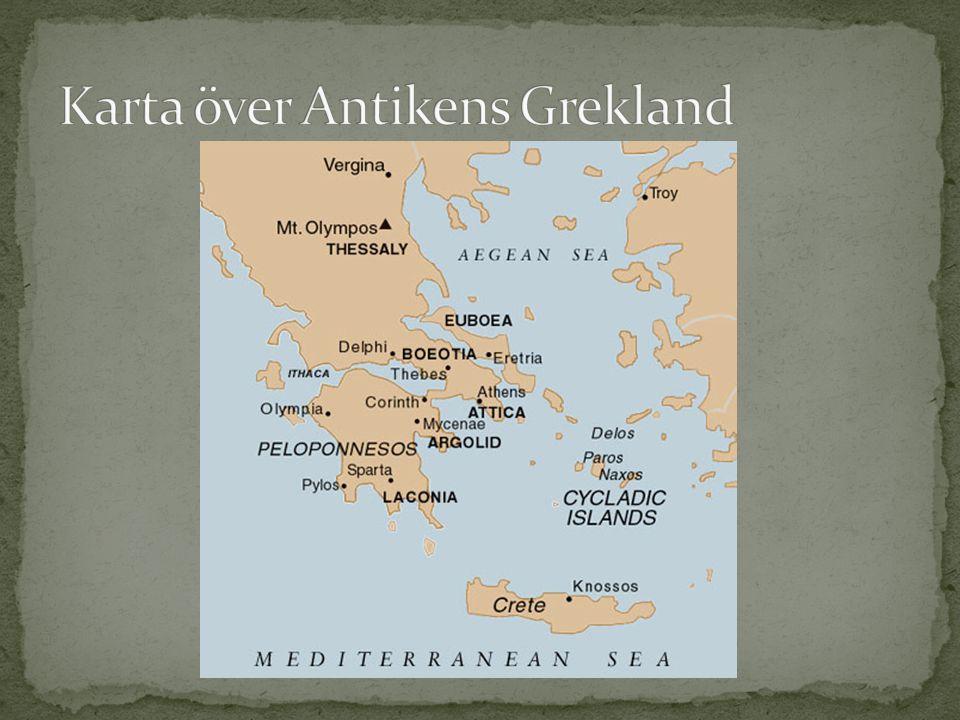 Karta över Antikens Grekland