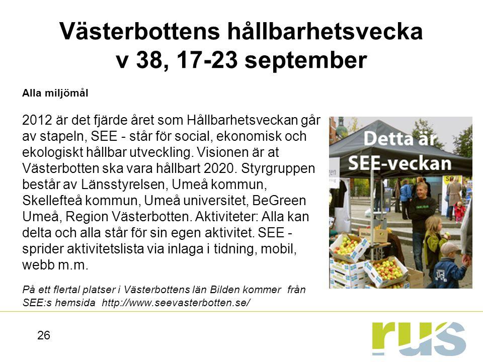 Västerbottens hållbarhetsvecka v 38, 17-23 september