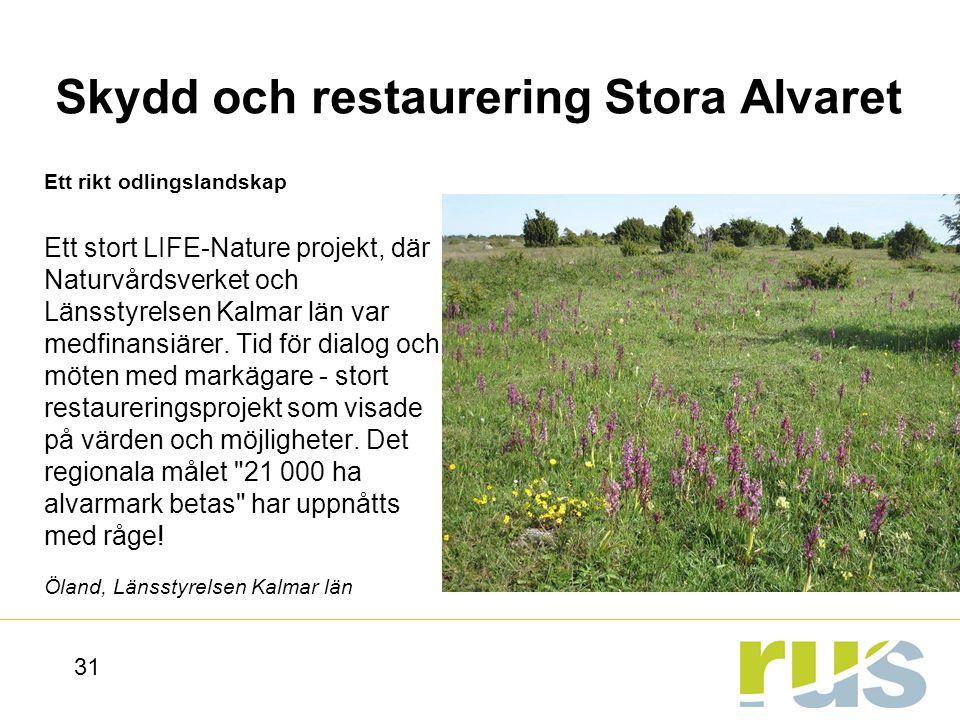 Skydd och restaurering Stora Alvaret