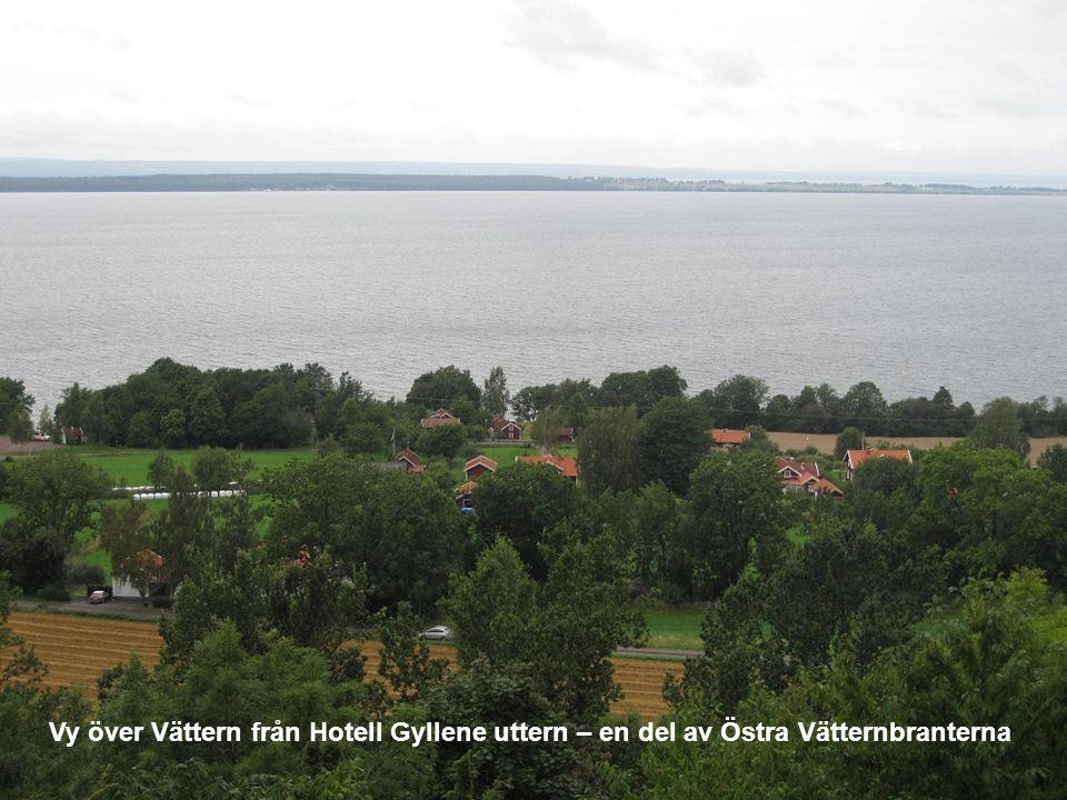 Vy över Vättern från Hotell Gyllene uttern – en del av Östra Vätternbranterna
