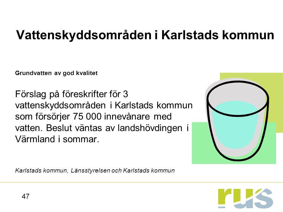 Vattenskyddsområden i Karlstads kommun