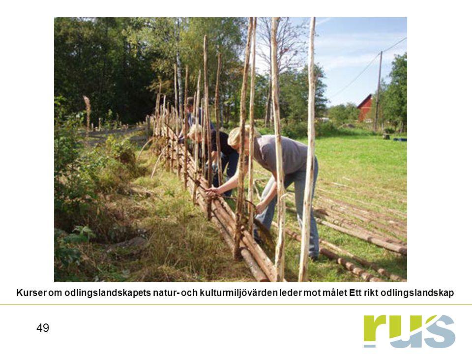 Kurser om odlingslandskapets natur- och kulturmiljövärden leder mot målet Ett rikt odlingslandskap