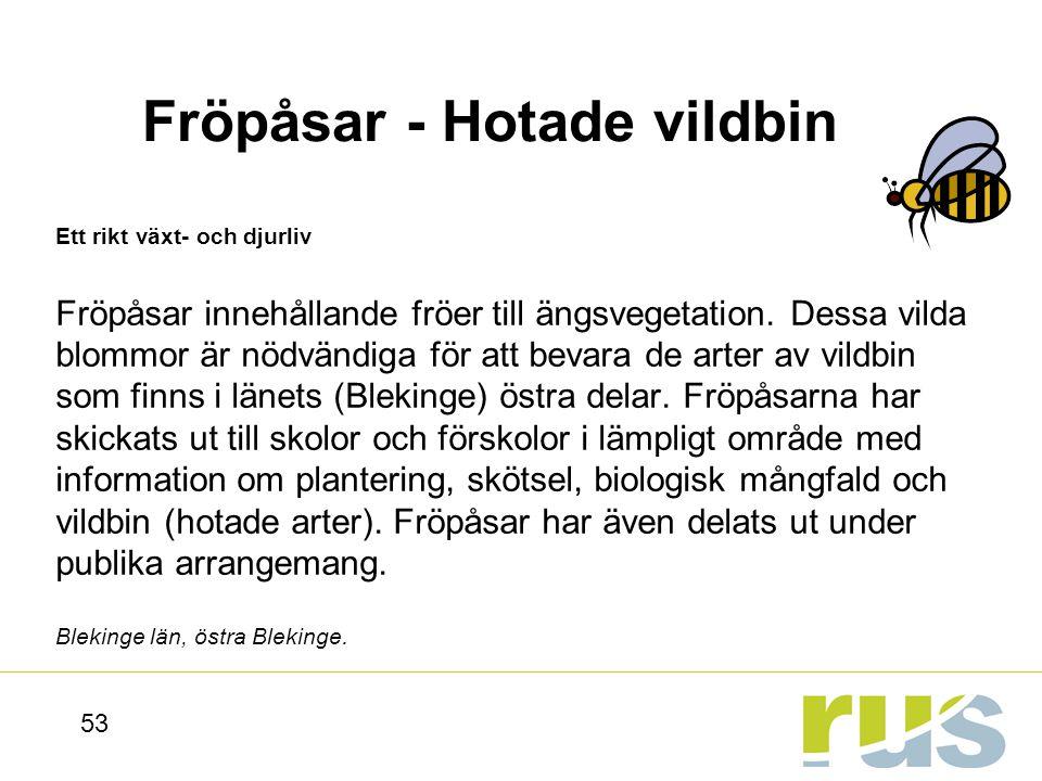 Fröpåsar - Hotade vildbin
