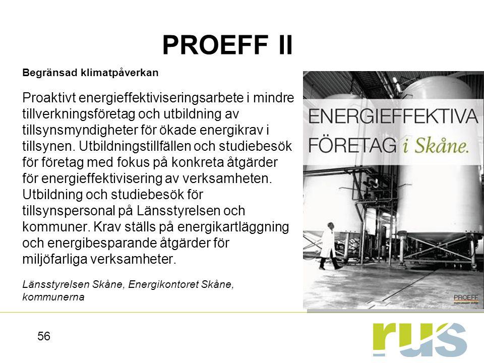 PROEFF II Begränsad klimatpåverkan.