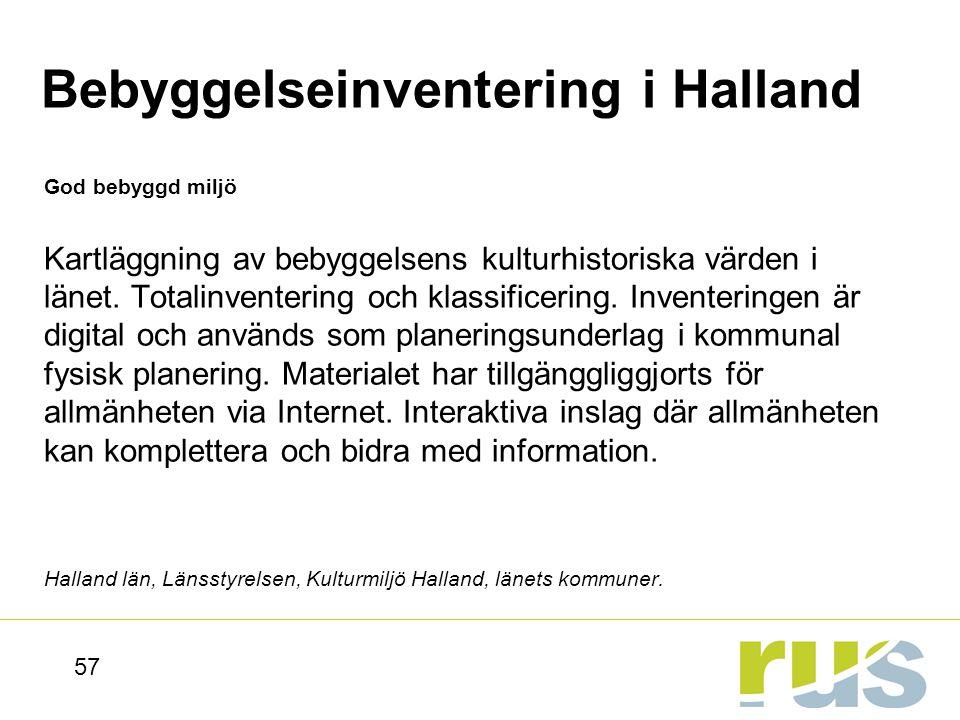 Bebyggelseinventering i Halland