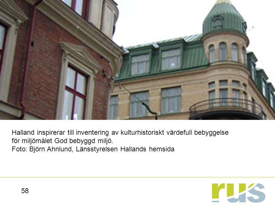Halland inspirerar till inventering av kulturhistoriskt värdefull bebyggelse