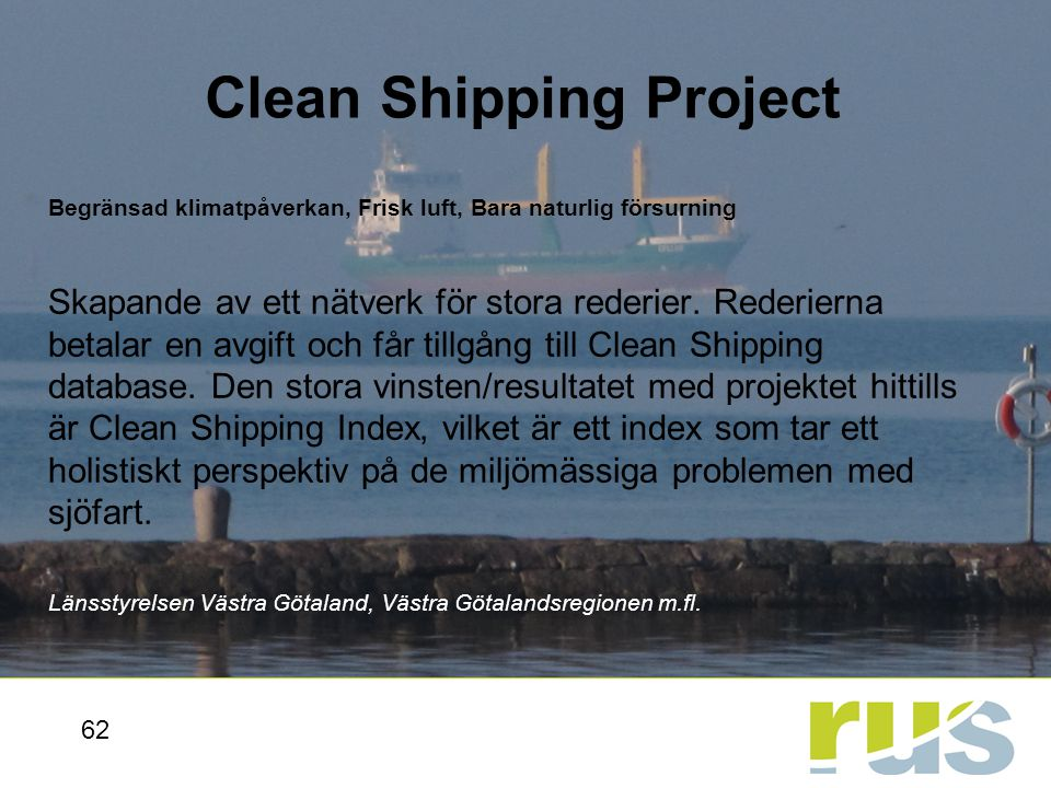 Clean Shipping Project