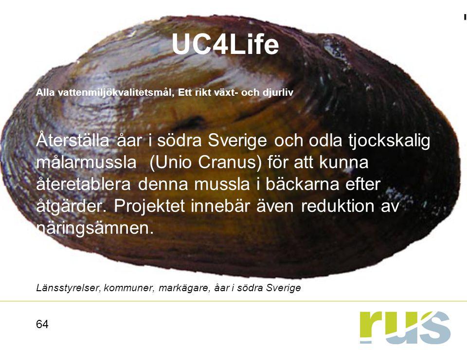 UC4Life Alla vattenmiljökvalitetsmål, Ett rikt växt- och djurliv.