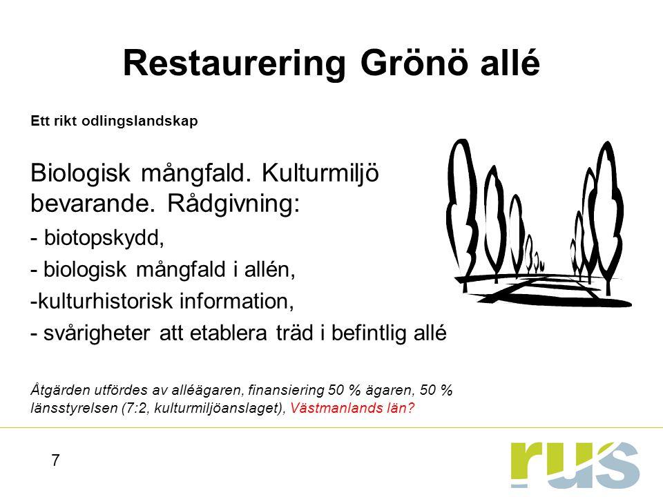 Restaurering Grönö allé