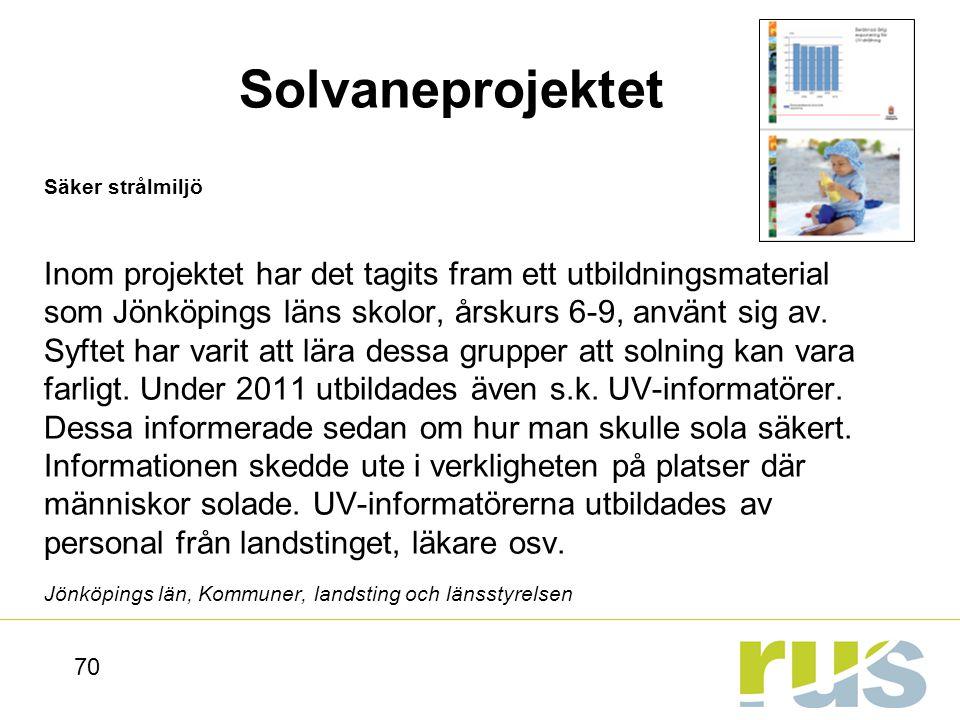 Solvaneprojektet Säker strålmiljö.