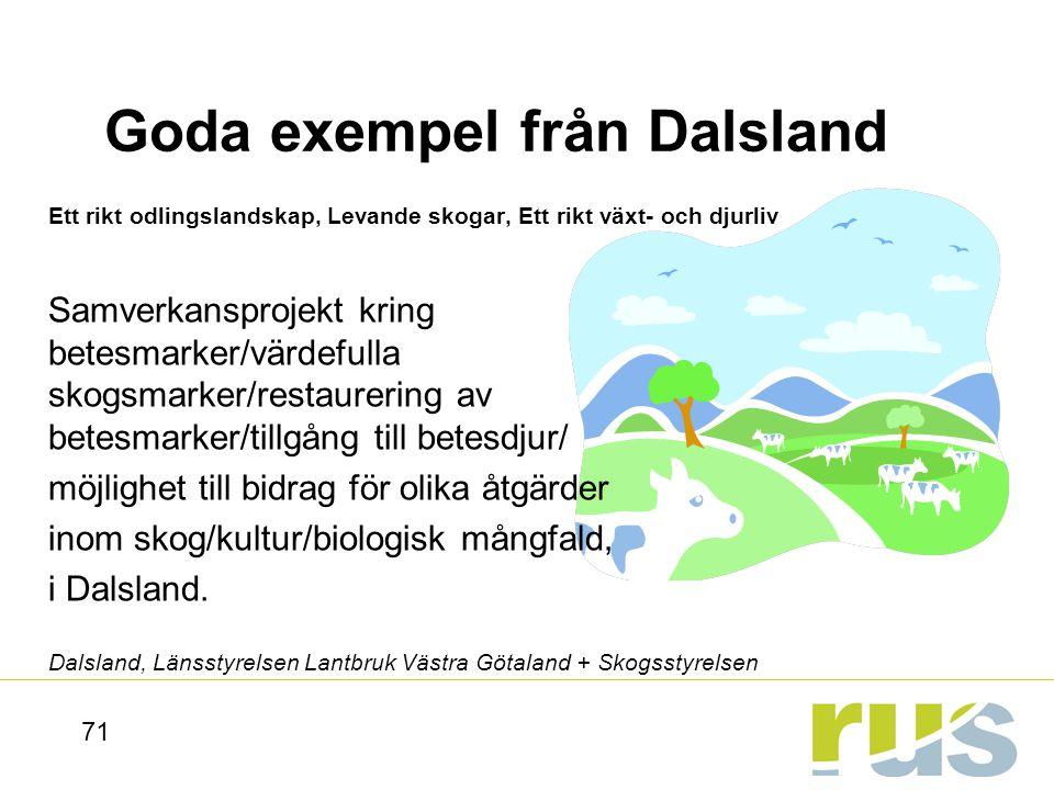 Goda exempel från Dalsland