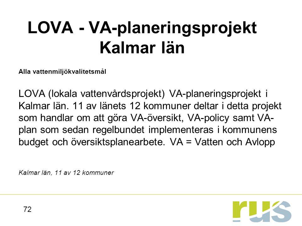 LOVA - VA-planeringsprojekt Kalmar län