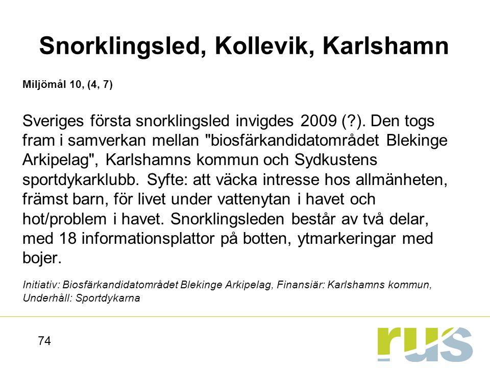 Snorklingsled, Kollevik, Karlshamn