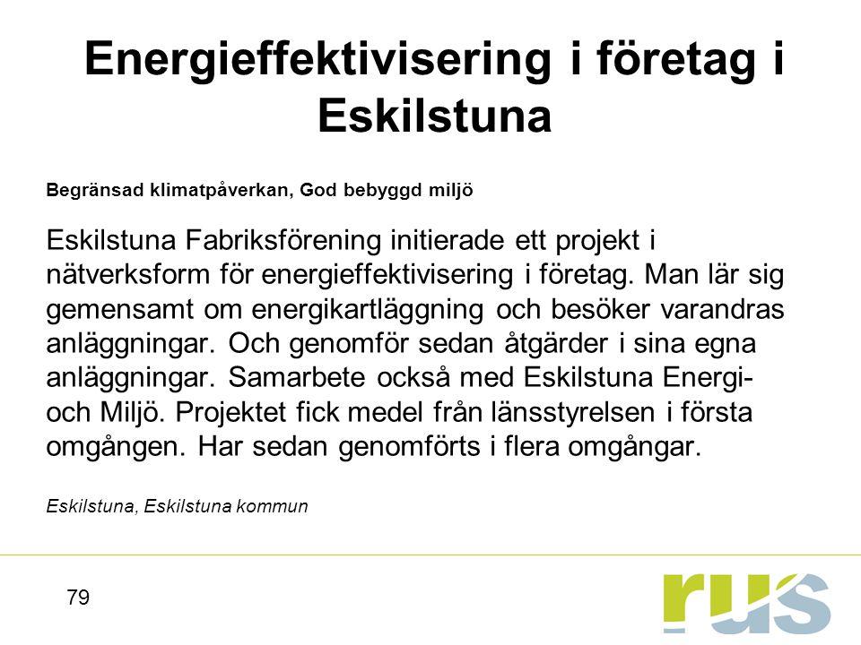 Energieffektivisering i företag i Eskilstuna