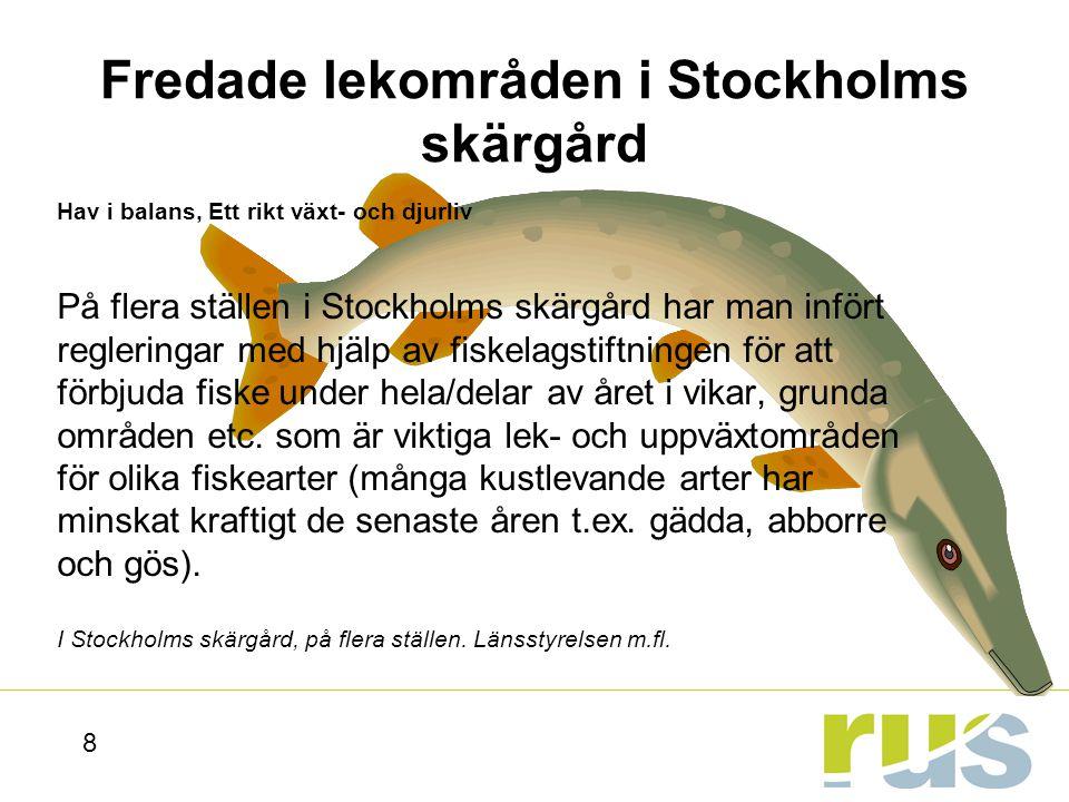 Fredade lekområden i Stockholms skärgård