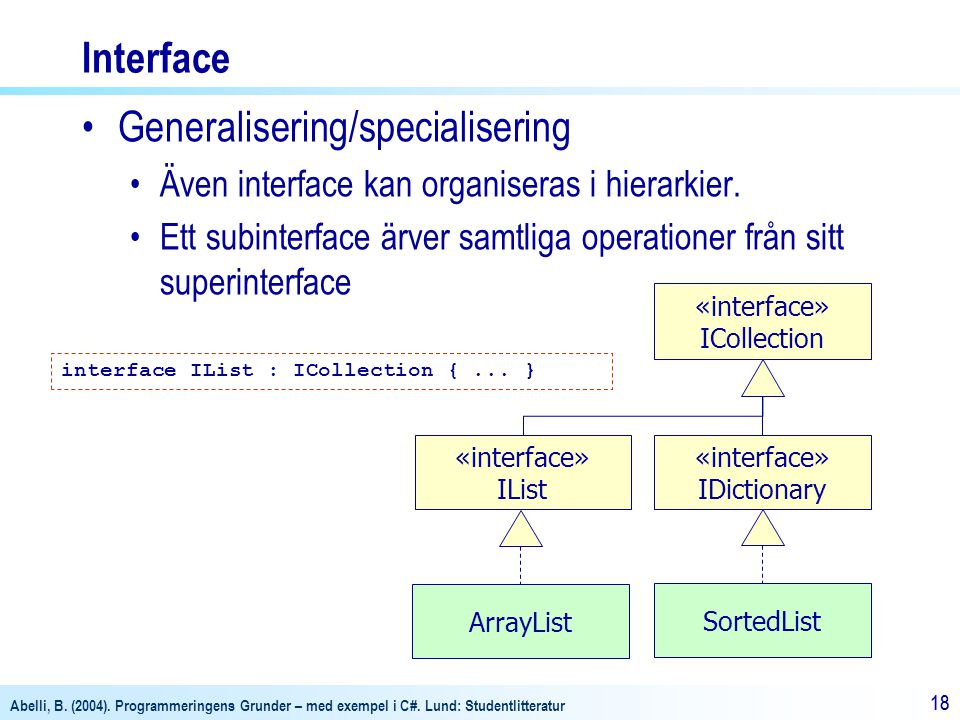 Generalisering/specialisering