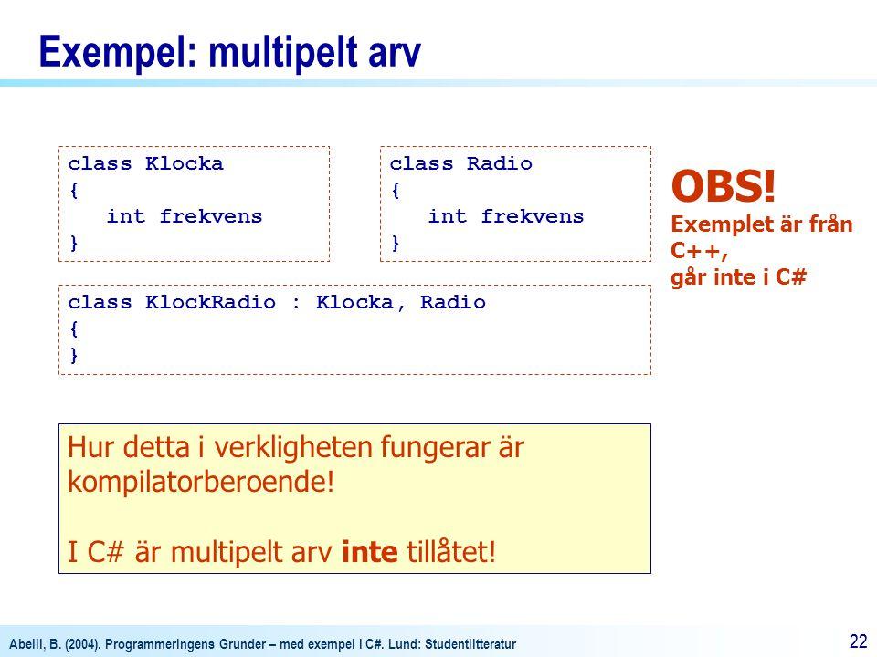 Exempel: multipelt arv