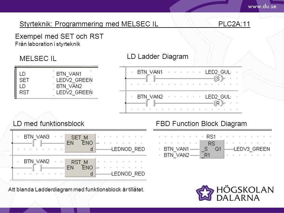 Styrteknik: Programmering med MELSEC IL PLC2A:11