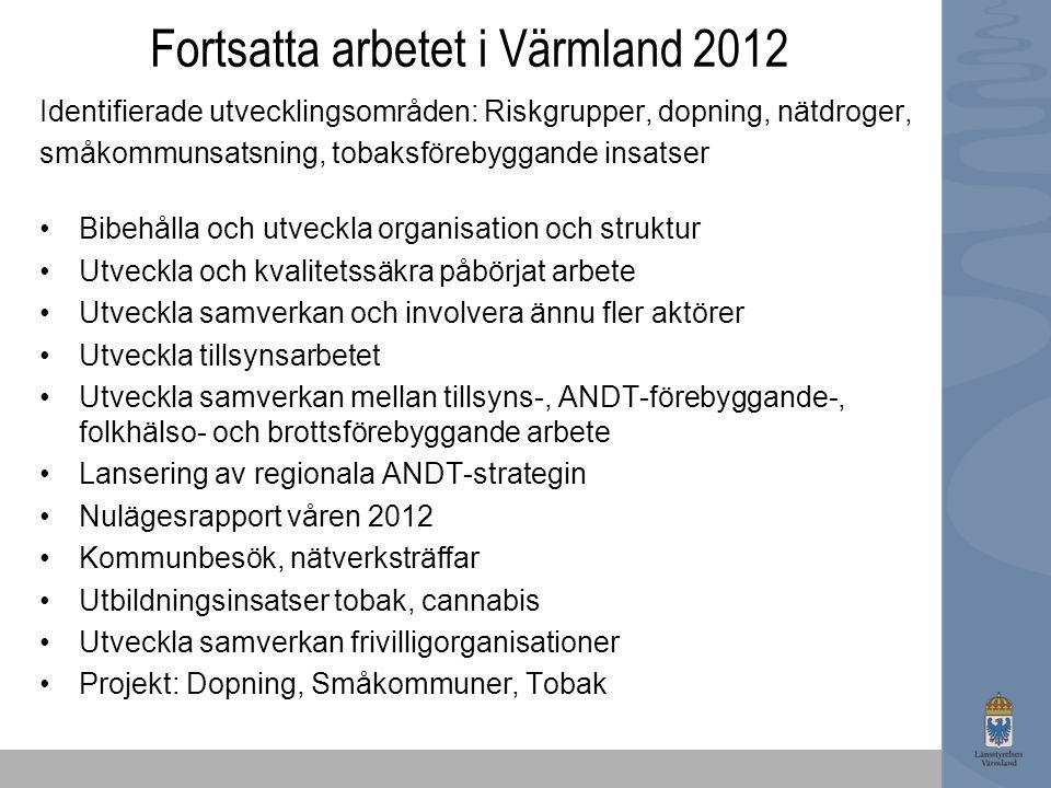 Fortsatta arbetet i Värmland 2012