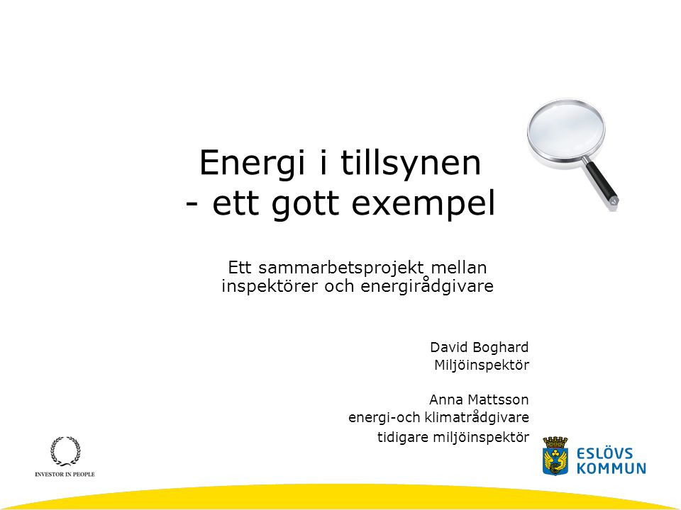 Energi i tillsynen - ett gott exempel