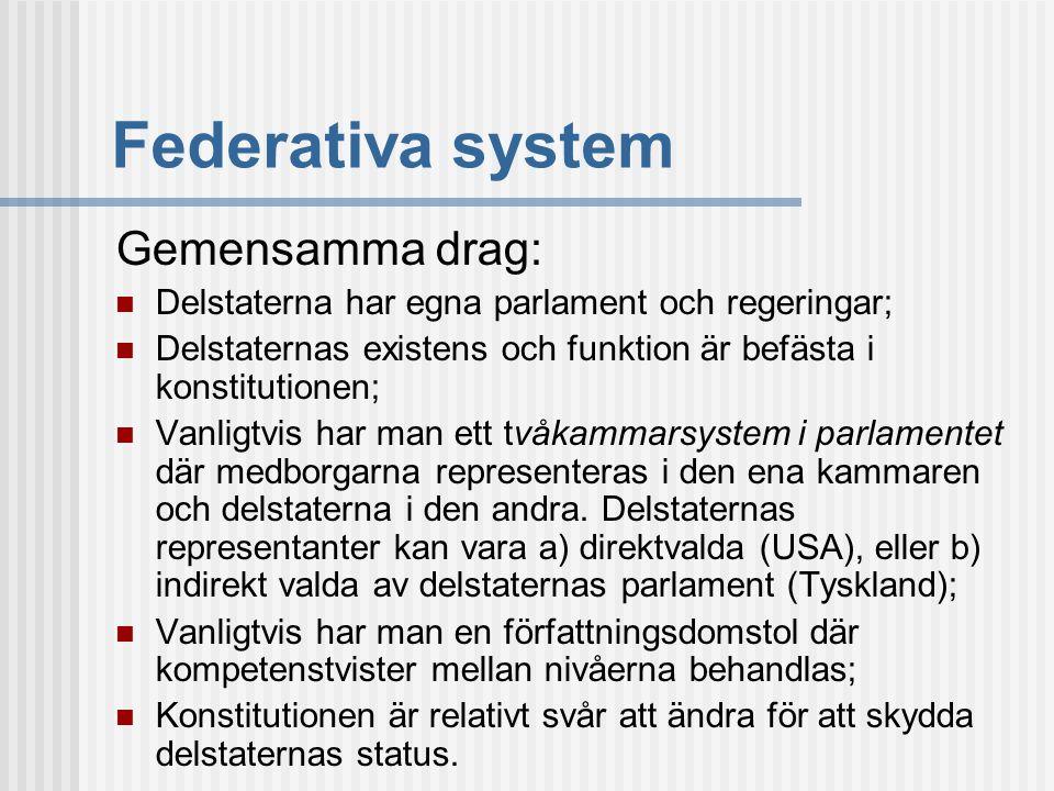 Federativa system Gemensamma drag: