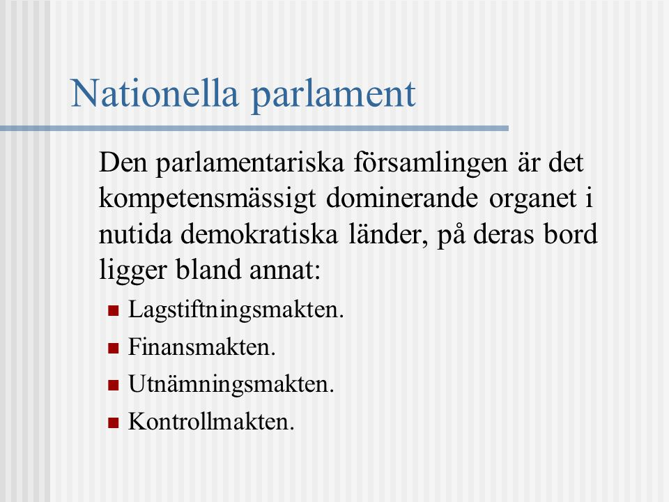 Nationella parlament