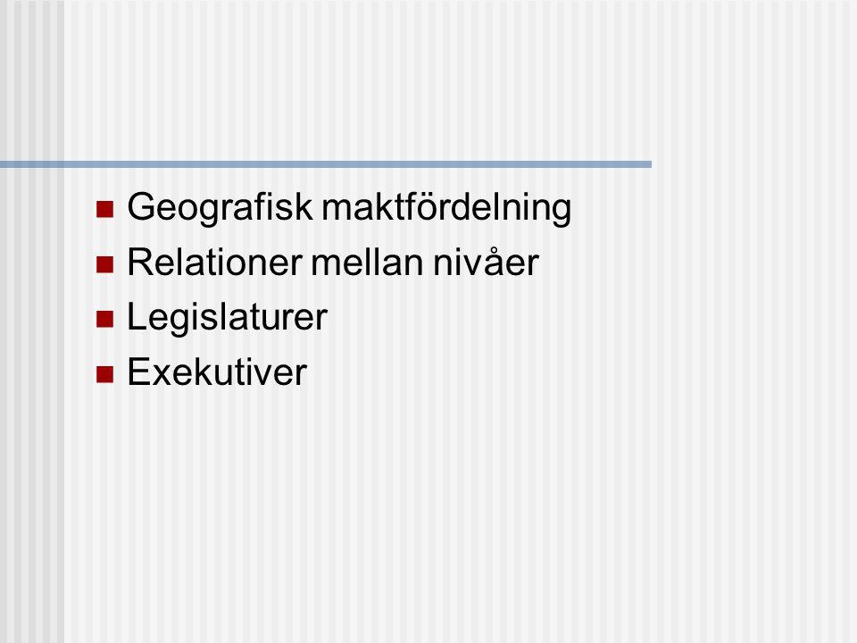 Geografisk maktfördelning