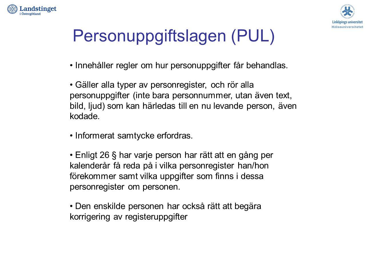 Personuppgiftslagen (PUL)