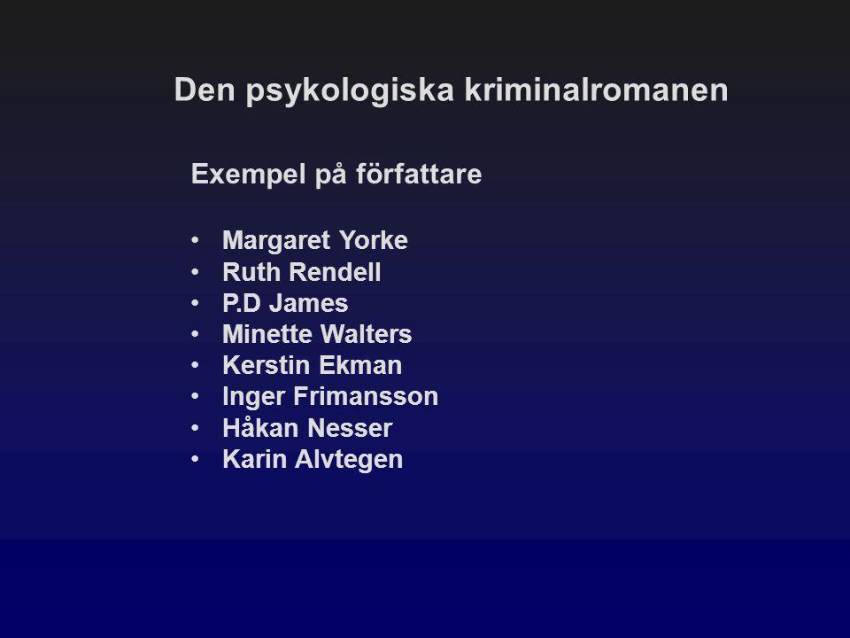 Den psykologiska kriminalromanen
