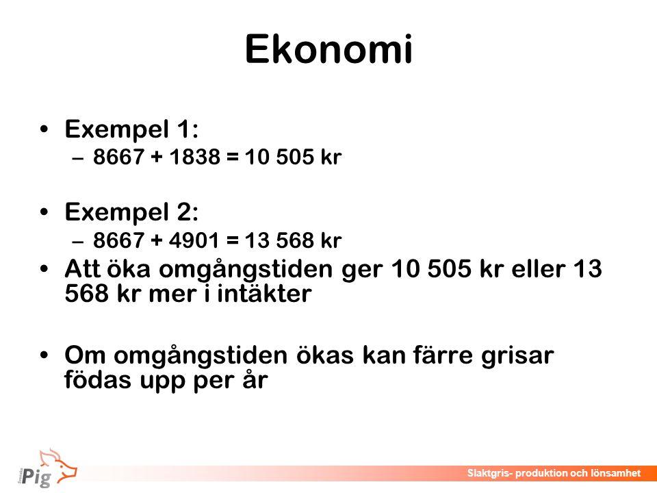 Ekonomi Exempel 1: Exempel 2: