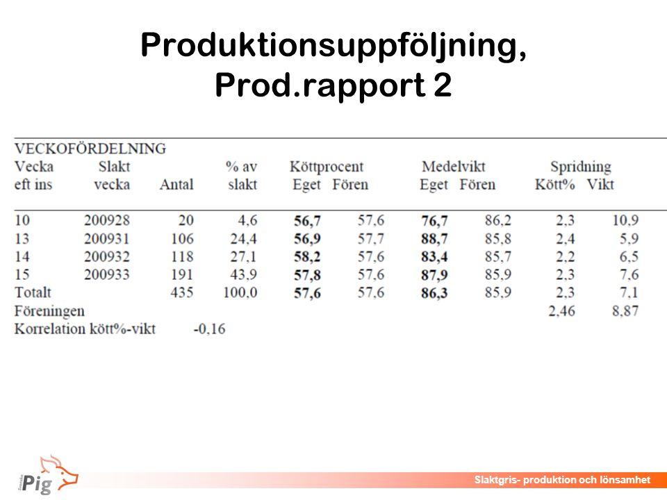 Produktionsuppföljning, Prod.rapport 2