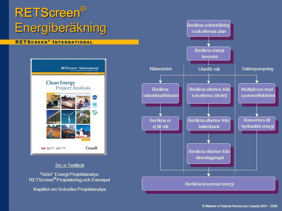 RETScreen® Energiberäkning