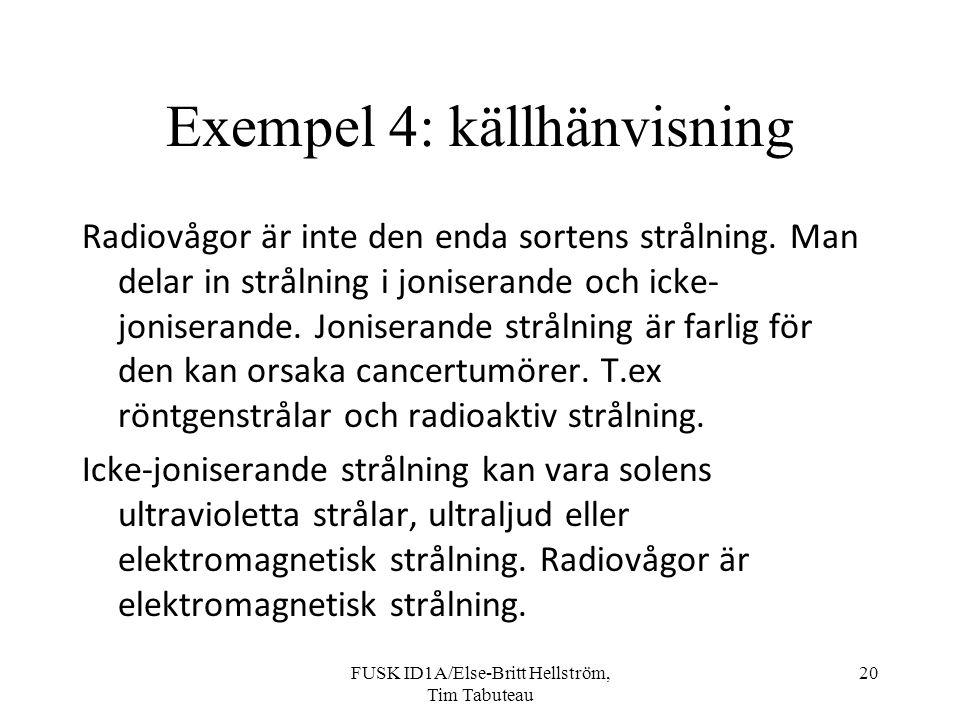 Exempel 4: källhänvisning