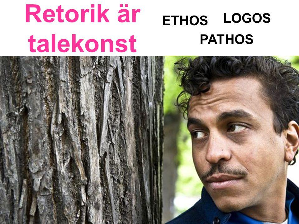 Retorik är talekonst LOGOS ETHOS PATHOS
