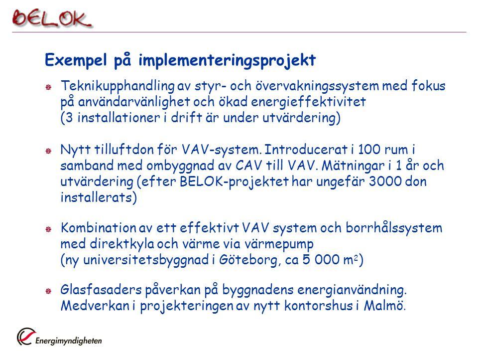 Exempel på implementeringsprojekt