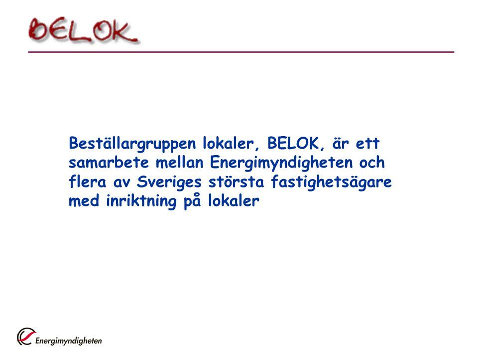 Beställargruppen lokaler, BELOK, är ett samarbete mellan Energimyndigheten och flera av Sveriges största fastighetsägare med inriktning på lokaler