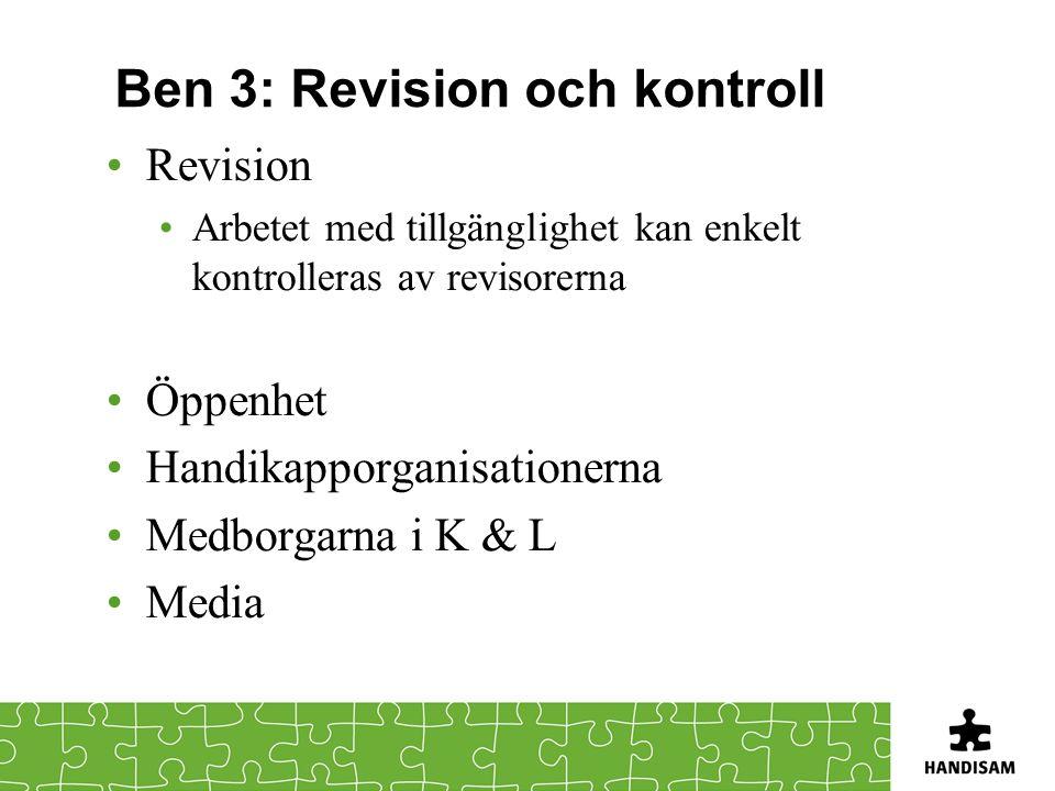 Ben 3: Revision och kontroll