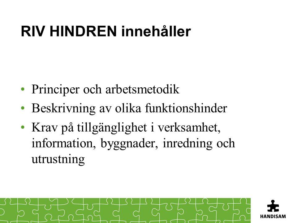 RIV HINDREN innehåller