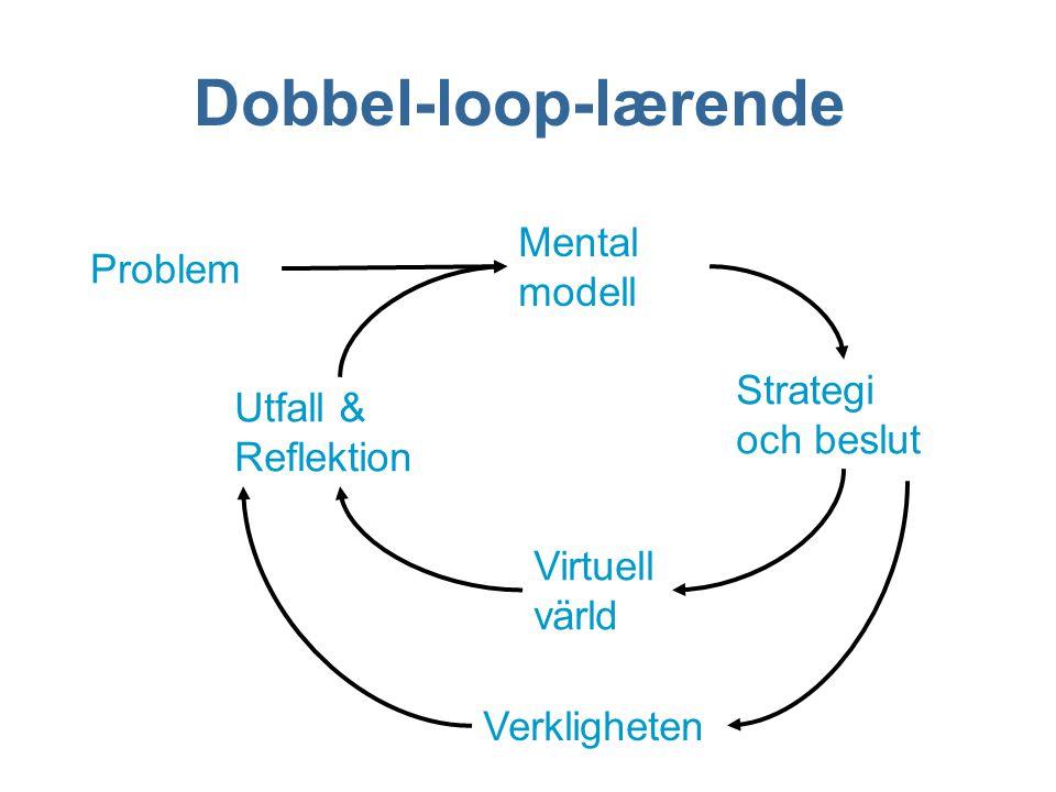 Dobbel-loop-lærende Mental modell Problem Strategi och beslut