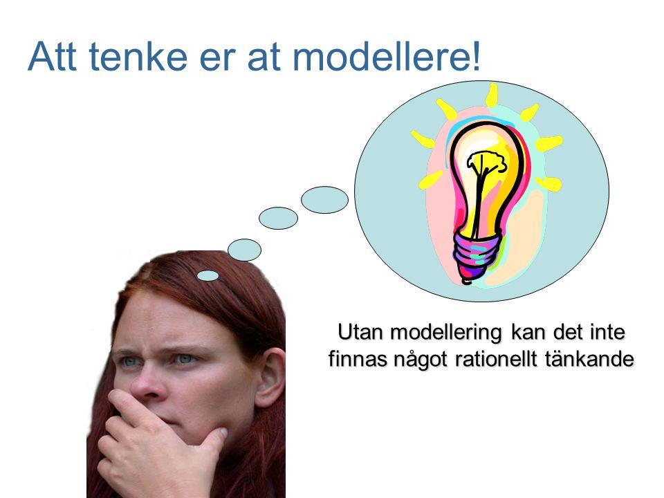 Att tenke er at modellere!