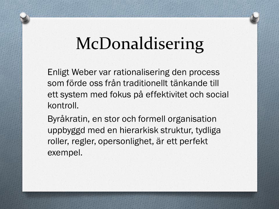 McDonaldisering
