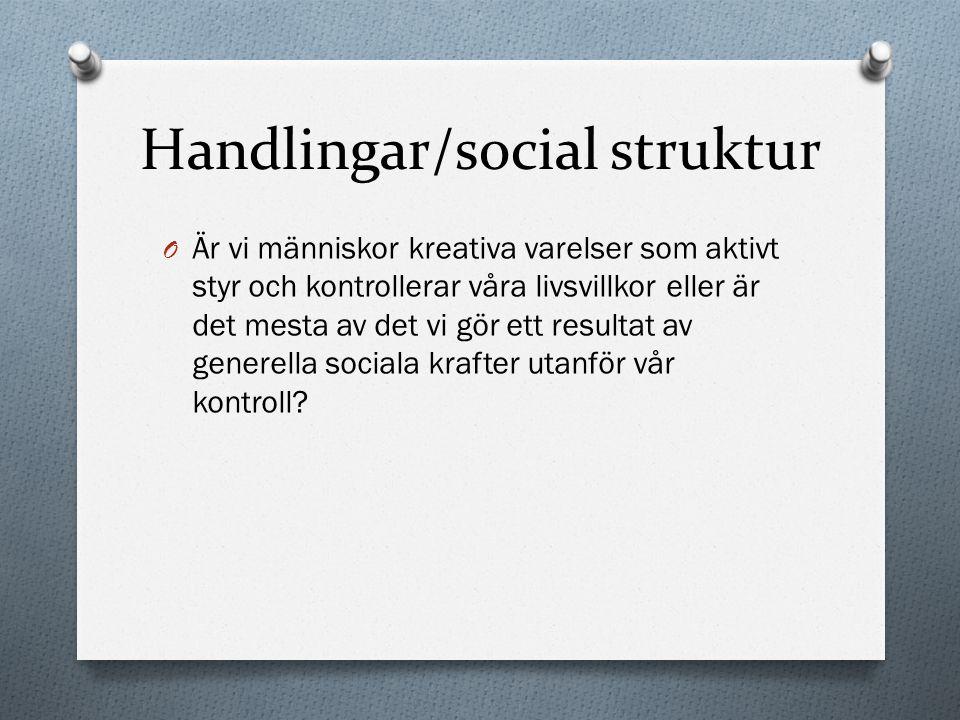 Handlingar/social struktur